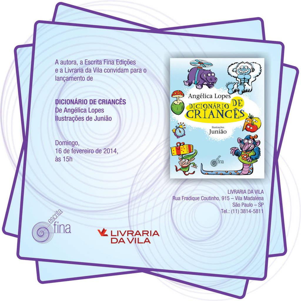 Convite online_Dicionário de Criances_livraria fradique
